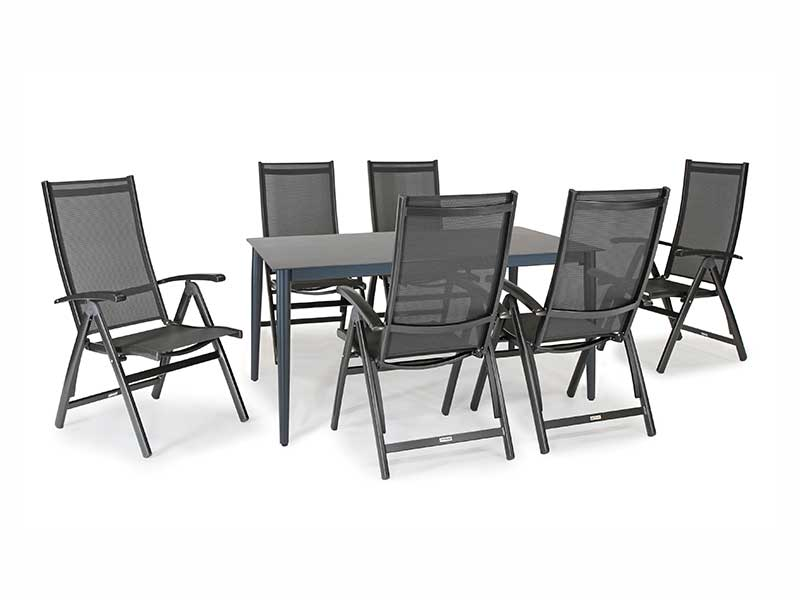 Kettler Surf 6 Seater Dining Set with Multi-Position Chairs (Pre-Order)