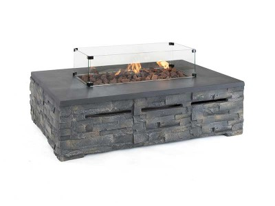Kalos Stone Gas Fire Pit Coffee Table