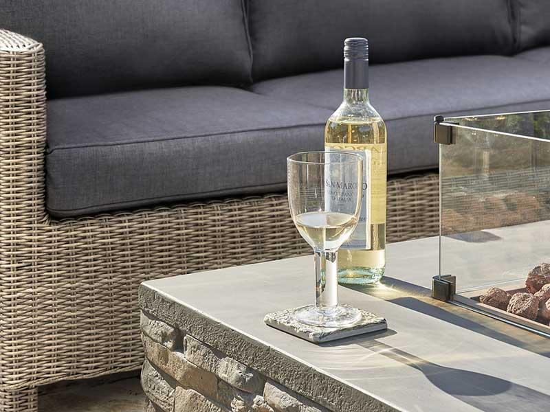Kettler Stone Fire Pit Coffee Table