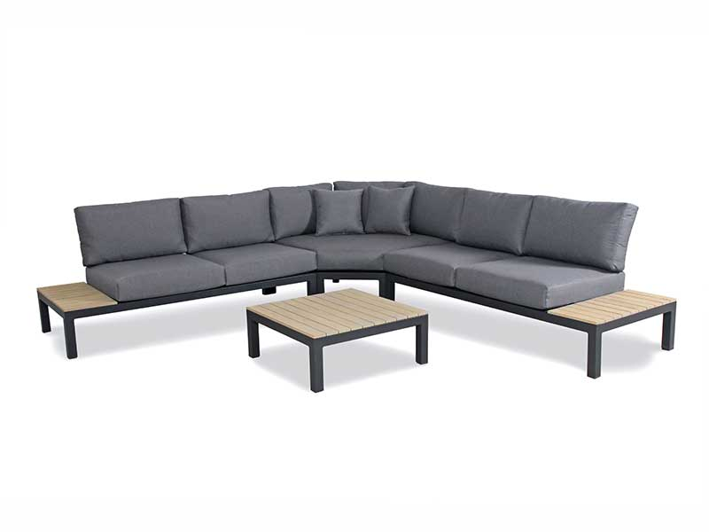 Kettler Elba Low Lounge Large Corner Set with Coffee Table and Footstool (Pre-Order)