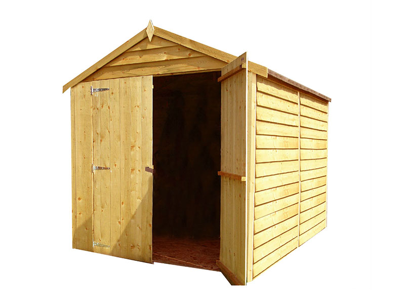 Shire 8x6 Overlap Double Door Shed