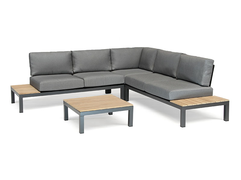 Kettler Elba Corner Set with Side Chair and Footstool