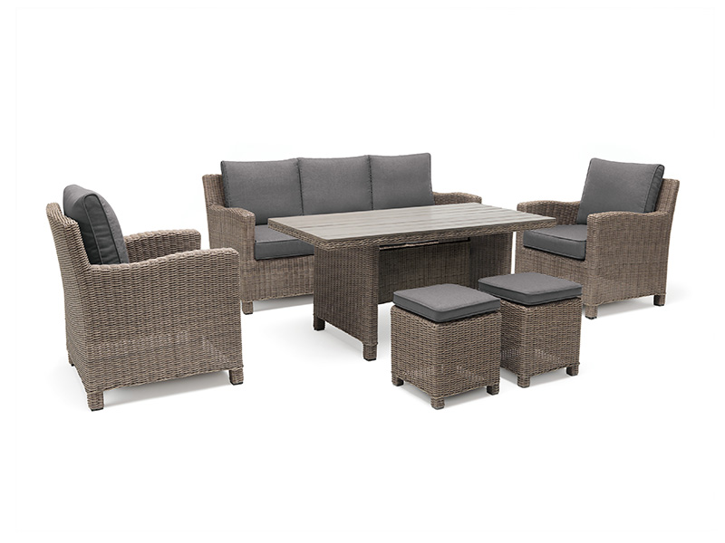 Kettler Palma Sofa Set with Table in Rattan