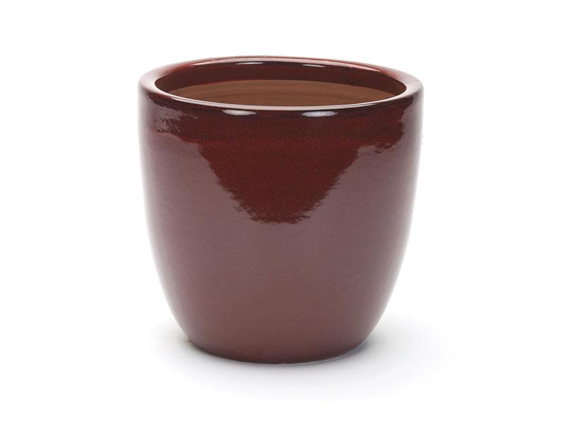 Apta Cambridge Glazed Egg Pot - Red