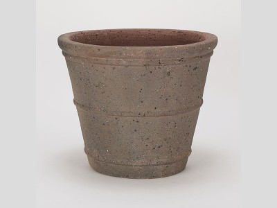 Apta Old Stone Ribbed Cone Planter