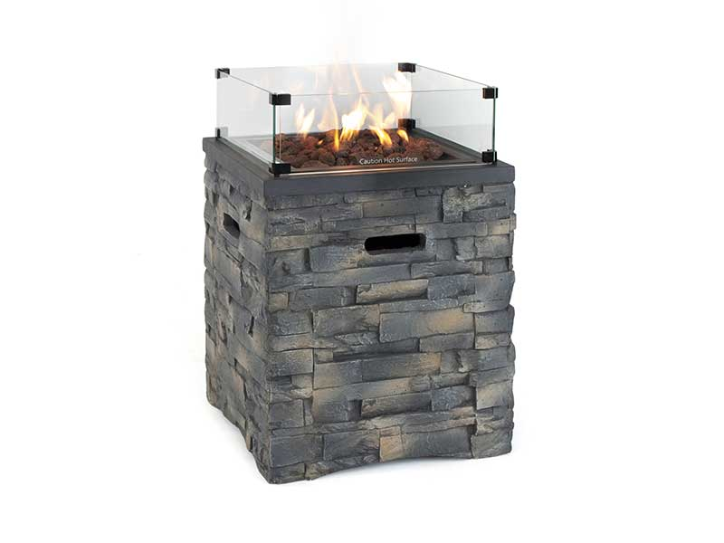 Kettler Stone Fire Pit Square with Cover
