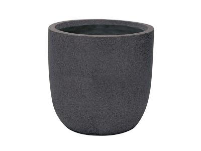 Apta Granito Egg Pot in Black
