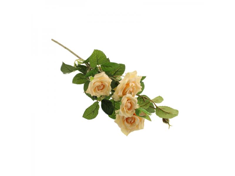 70cm Garden Rose Spray - Peach