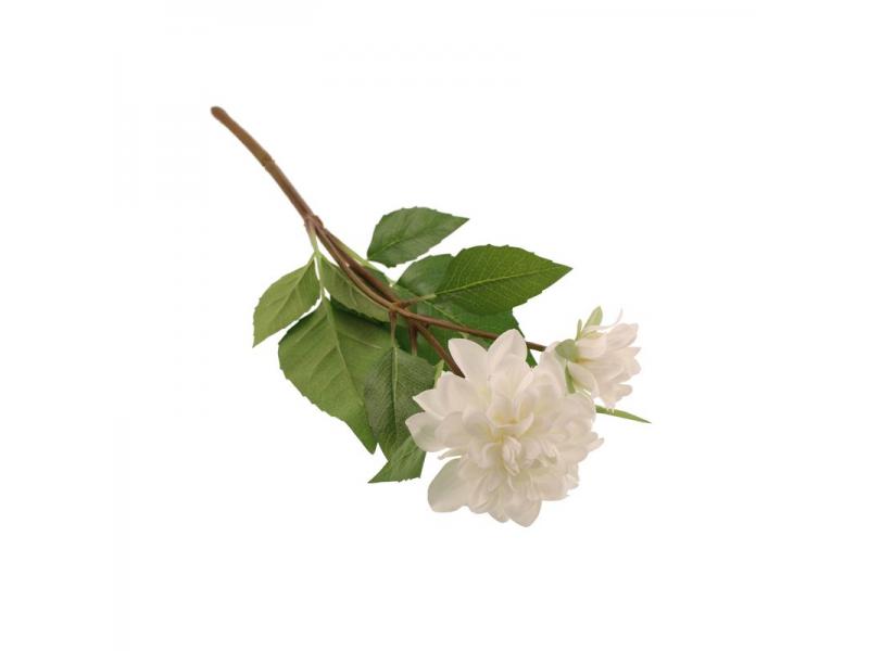 48cm Zinnia Spray - Cream