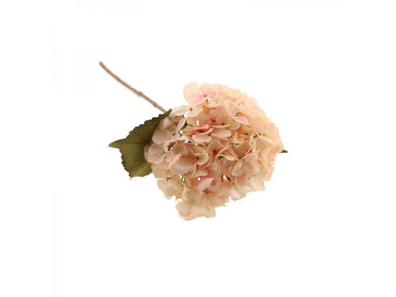 46cm Dried Hydrangea Single - Light Pink
