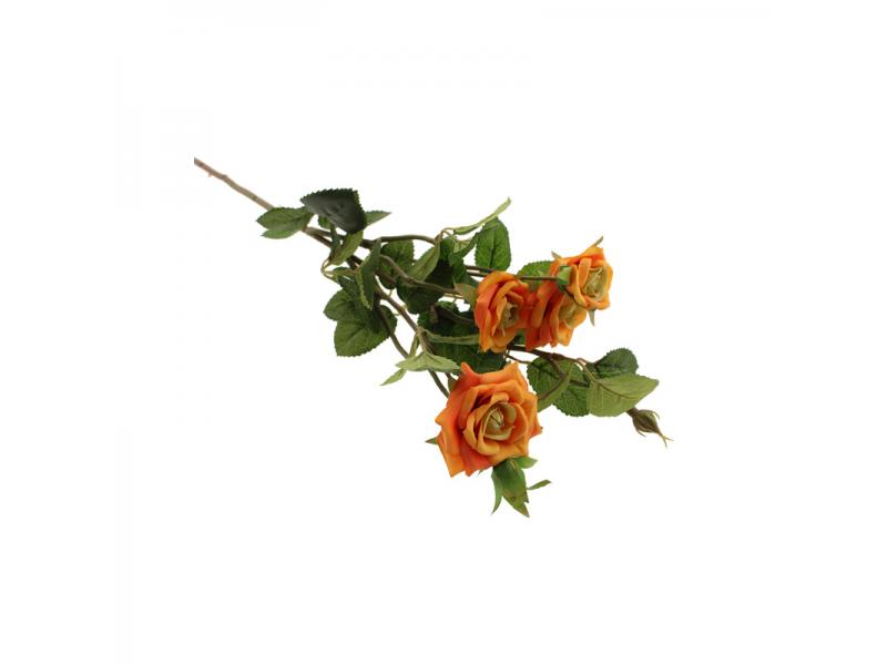 70cm Garden Rose Spray - Orange