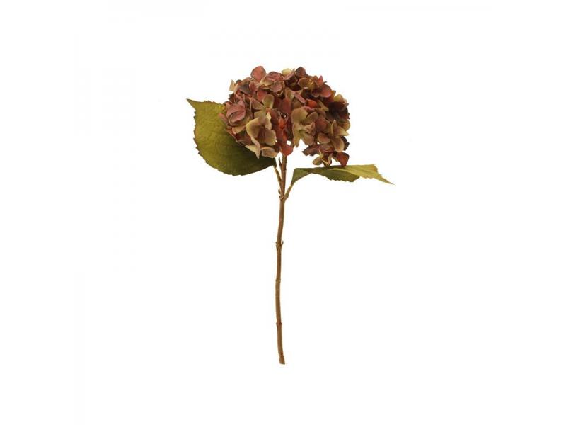 46cm Dried Hydrangea Single - Purple