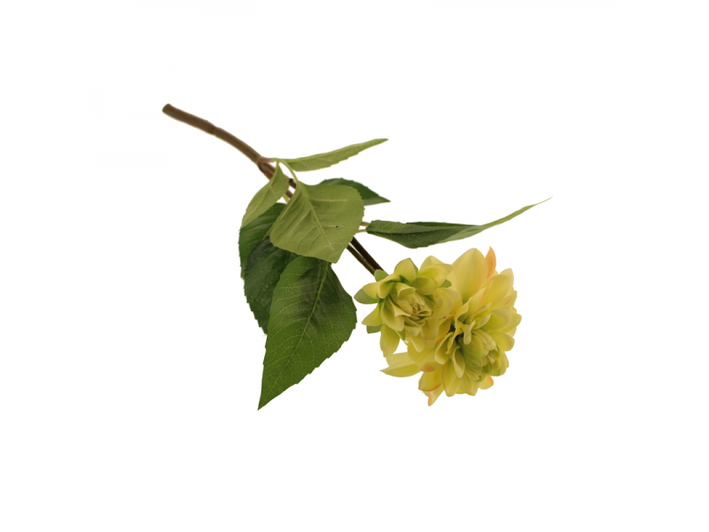 48cm Zinnia Spray - Yellow