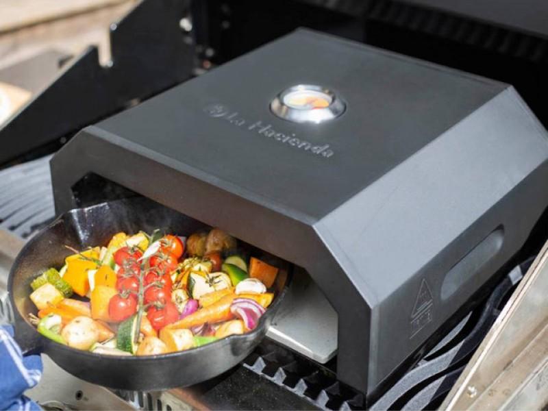 La Hacienda BBQ Pizza Oven - Black