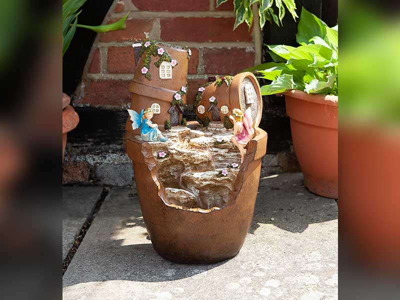 Smart Garden Solar Fairy Pot Cascade Fountain
