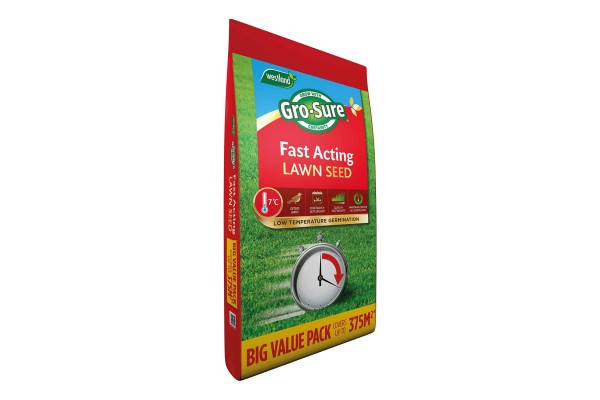 Gro-Sure Fast Acting Lawn Seed - 375m Bag