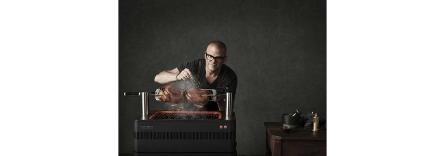 Everdure by Heston Blumenthal – Fusion Charcoal BBQ with Pedestal and Cover