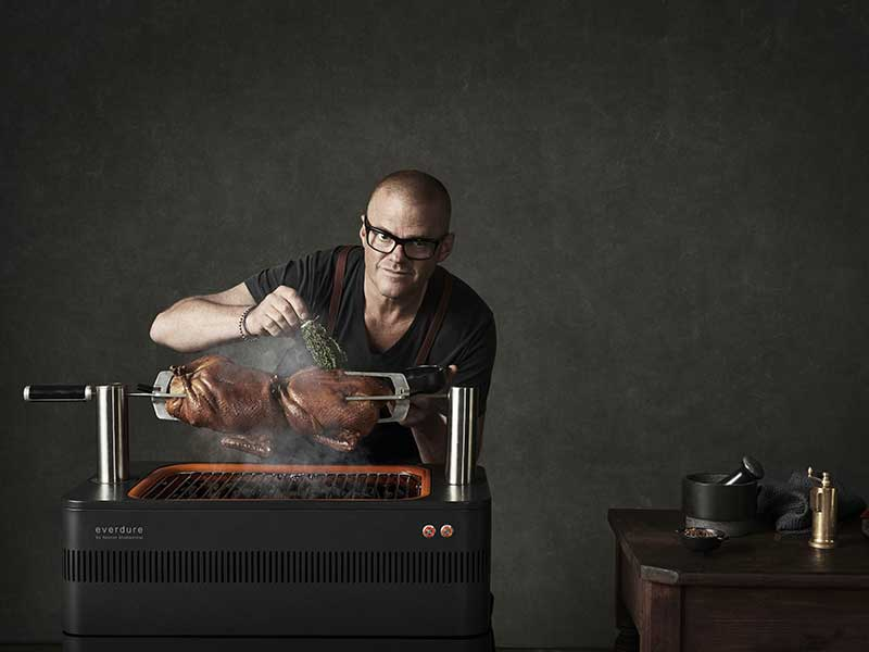 Everdure by Heston Blumenthal – Fusion Charcoal BBQ with Pedestal and Cover (Pre-Order)
