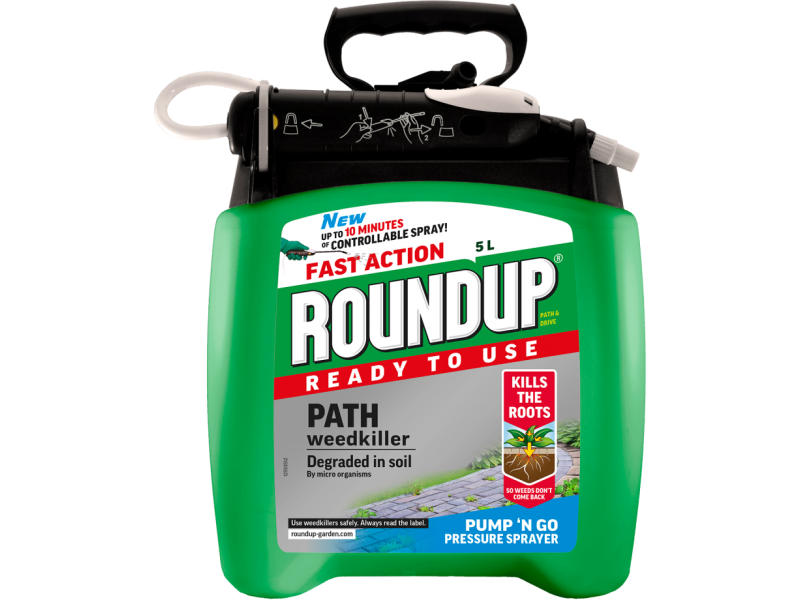 Roundup Path Weedkiller Ready To Use Pump 'n Go