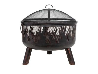 La Hacienda Wildfire Steel Firebowl with Grill