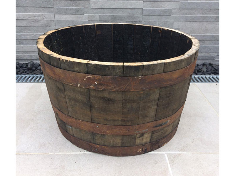Half Oak Barrel