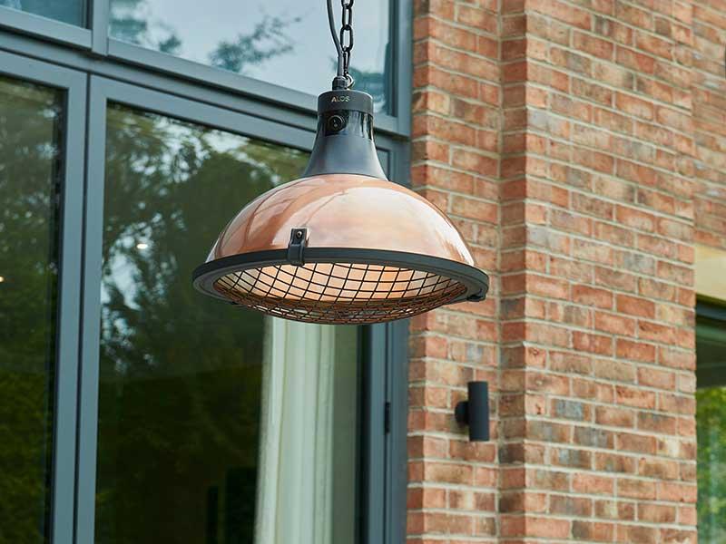 Kalos Plush Copper Electric Heater Pendant