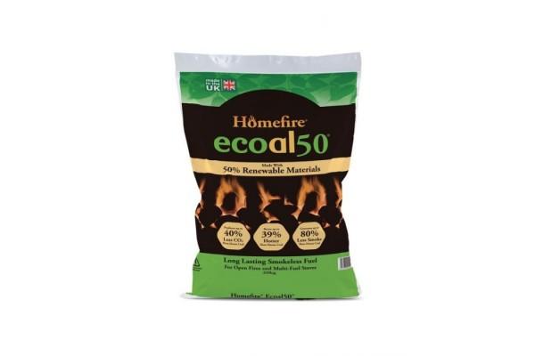 Homefire Ecoal50 Smokeless Coal - 20kg