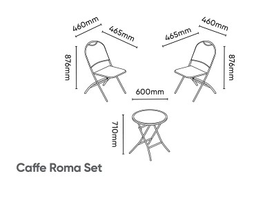 Kettler Caffe Roma Set with Cushions