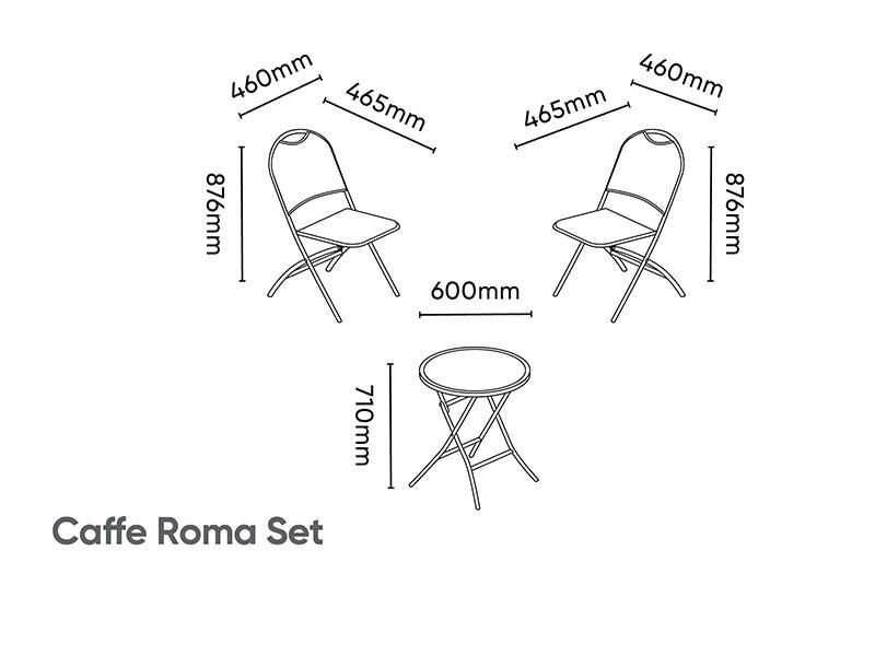 Kettler Café Roma Set with Cushions