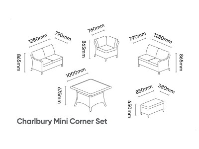 Kettler Charlbury Mini Corner Set