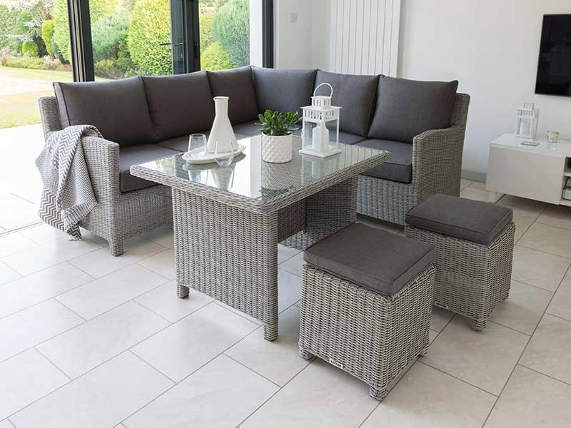 Kettler Palma Mini Set with Table in Whitewash