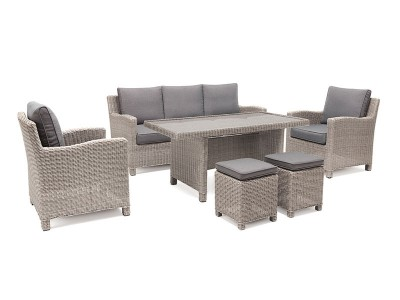Kettler Palma Sofa Set with Table in Whitewash
