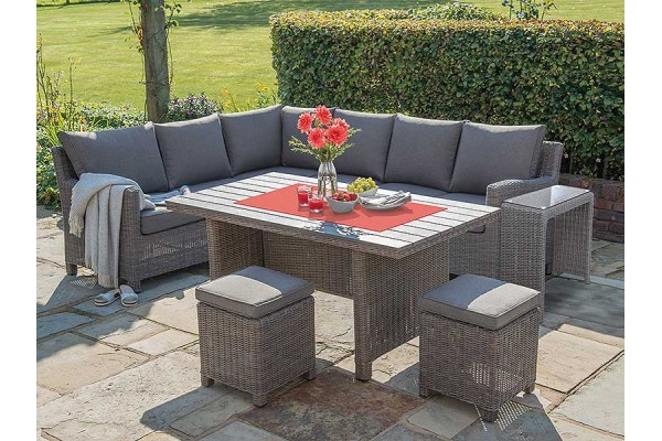 Kettler Palma Corner Set with Table in Rattan