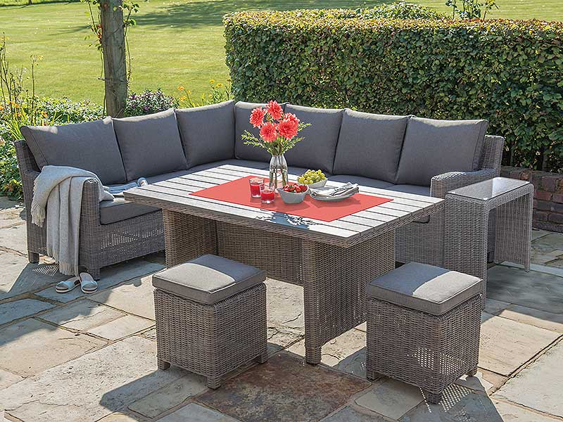 Kettler Palma Corner Set (RH) with Table - Rattan (Pre-Order 2021)