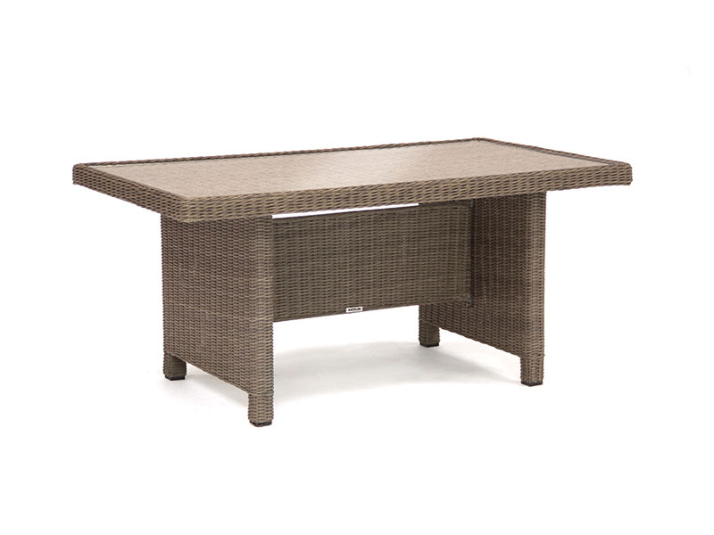 Kettler Palma Glass Top Table in Rattan