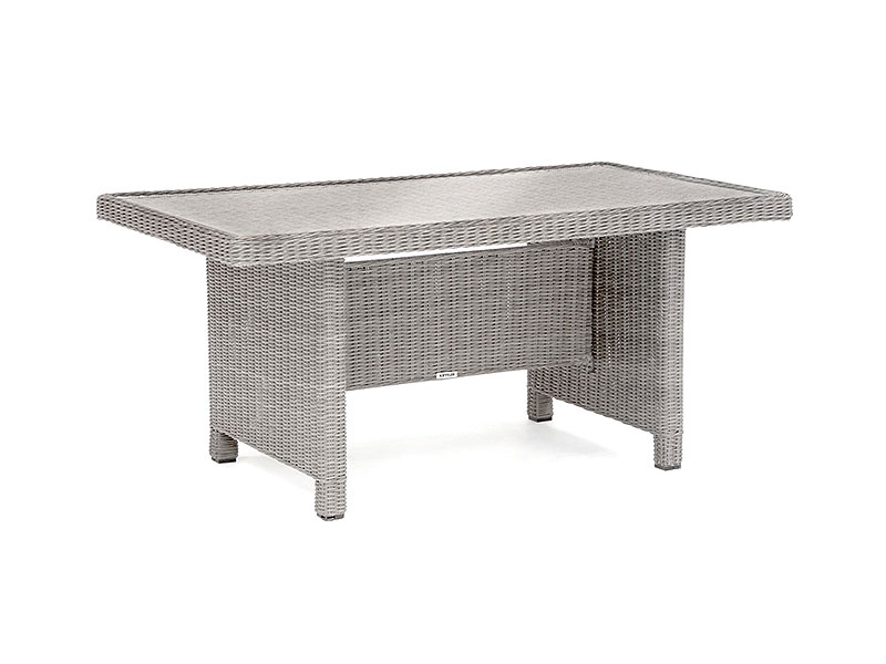 Kettler Palma Glass Top Table in Whitewash
