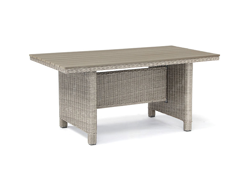 Kettler Palma Slat Top Table in Whitewash
