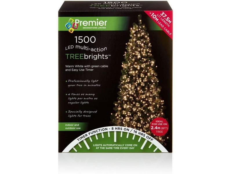 Premier Multi-Action LED Treebrights Christmas Lights - Warm White
