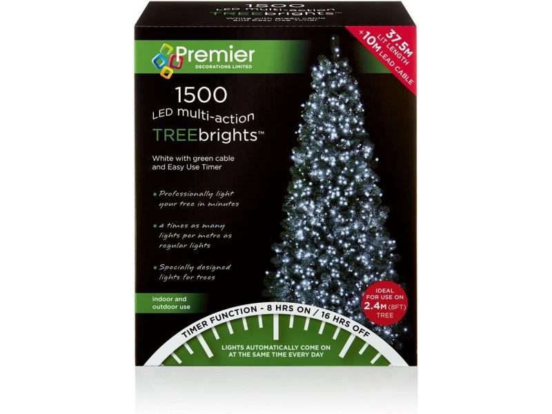 Premier Multi-Action LED Treebrights Christmas Lights - White