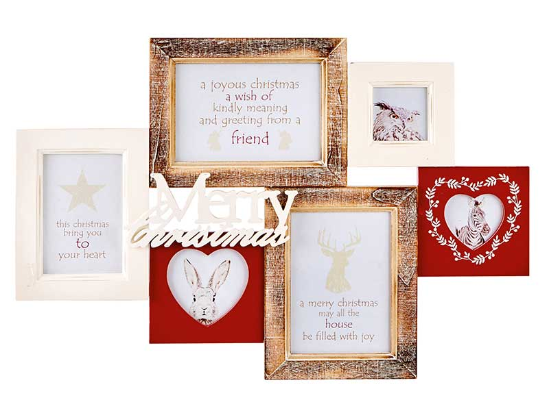 Premier Merry Christmas Combined Photo Frame