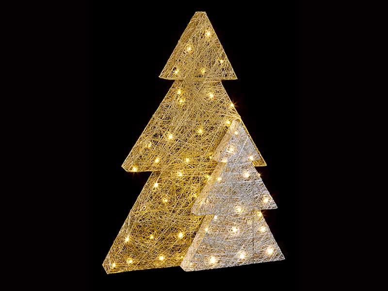 Premier Gold & Silver Double Layer Tree