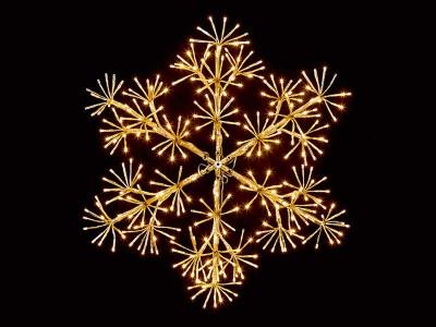 Premier 60cm Gold Starburst Snowflake