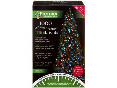Premier Multi-Action LED Treebrights Christmas Lights - Multi Coloured