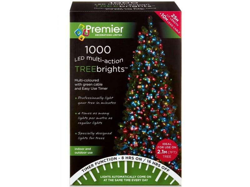 Premier Multi-Action LED Treebrights Christmas Lights - Multi Coloured