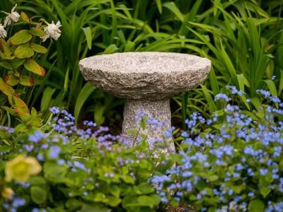 Tom Chambers Granite Bird Bath