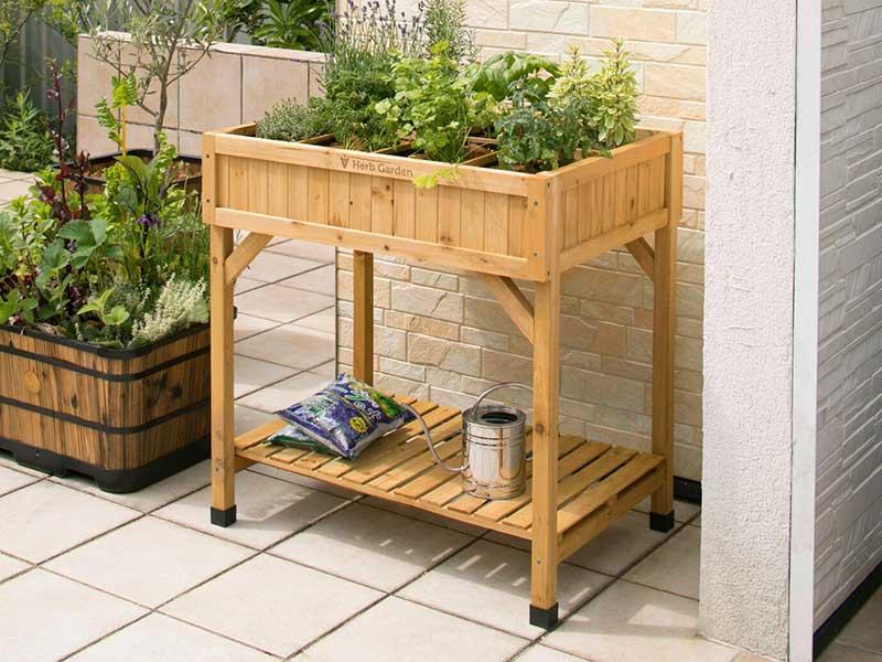VegTrug Herb Garden Raised Bed - Natural