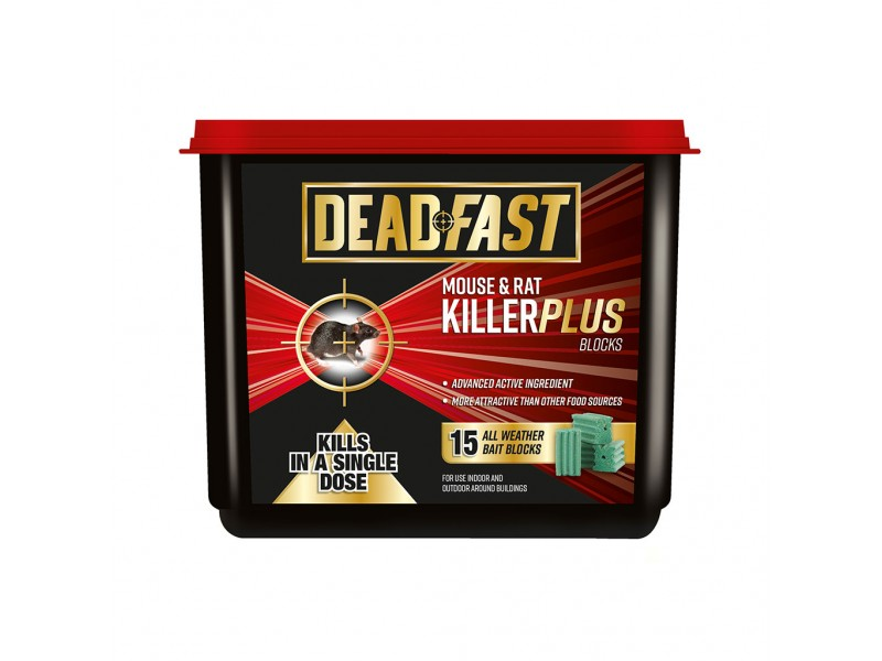 Deadfast Mouse & Rat Killer Plus Blocks
