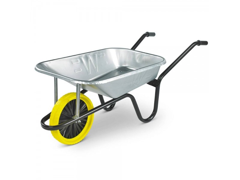 Contractor Galvanised 85L Wheelbarrow with Puncture Proof Wheel