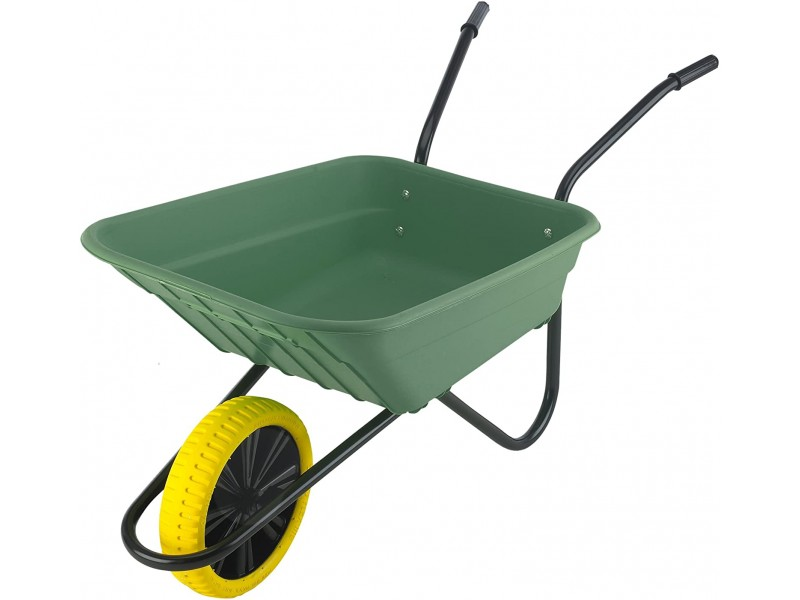 Shire Green 90L Wheelbarrow with Puncture Proof Wheel