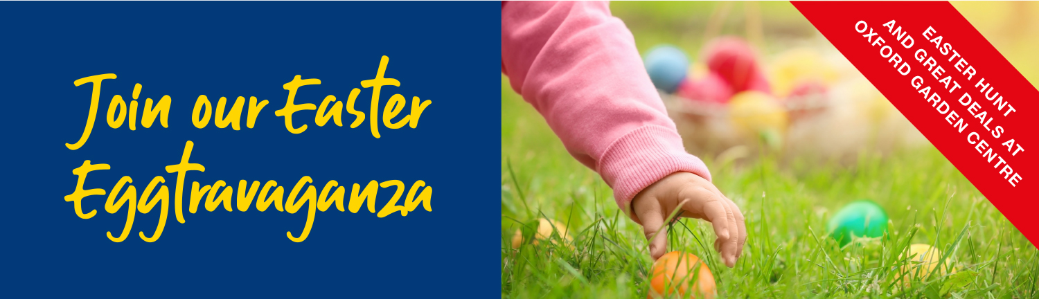 Easter egg hunt promotion at Oxford Garden Centre